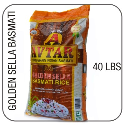 Avtar golden sella basmati  40 lbs