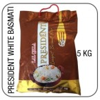 President white long grain basmati 5 kg