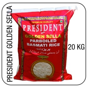president golden sella basmati 20 kg