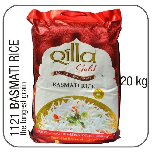 Qilla gold 1121 indian long grain basmati 20 kg