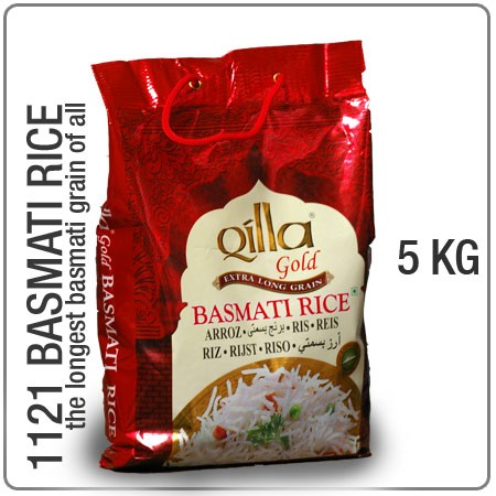 Qilla gold 1121 indian long grain basmati