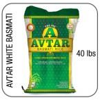 avtar long grain basmati rijst 40 lbs