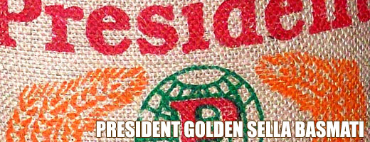 President golden sella basmati